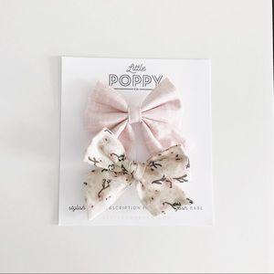 LITTLE POPPY CO Girl's Sept. '18 Pigtail Bow Set